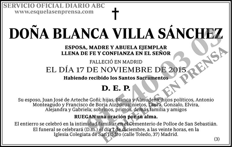 Blanca Villa Sánchez